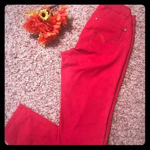 New Directions Red Weekend Jeans